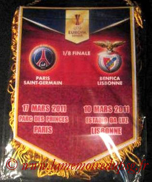 Fanion  PSG-SL Benfica  2010-11