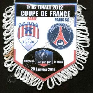 Fanion Sablé FC-PSG  2011-12