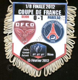 Fanion Dijon FCO-PSG  2011-12
