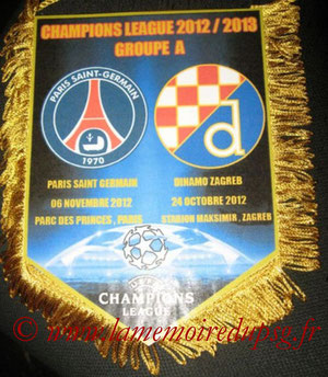 Fanion  PSG-Dinamo Zagreb  2012-13