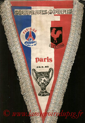 Fanion PSG-Glentoran  1983-84