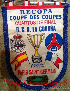 Fanion PSG-La Corogne  1995-96