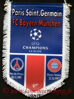 Fanion PSG-Bayern Munich  1997-98