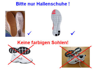Turnhallen Schuhe