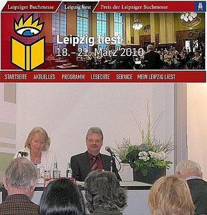 Lesung auf der Buchmesse 2010 in Leipzig