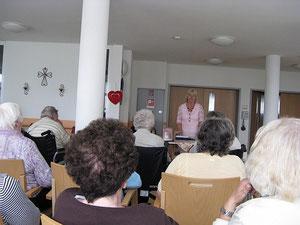 Lesung im Senioren-Servicehaus in Fuchsmühl/Oberpfalz