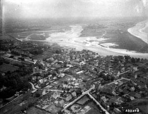 Luftaufnahme von Barneville-sur-Mer mit Blickrichtung Süden