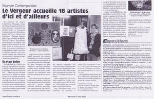 Journal L'Union, Expo Estampe Contemporaine, 11 avril 2012