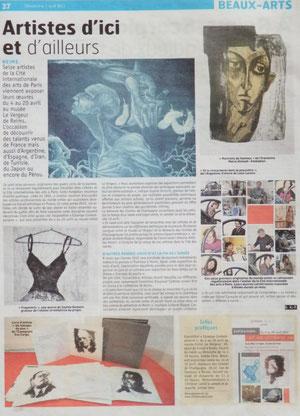 Journal L'Union, Expo.Estampe contemporaine, 1er avril 2012