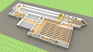 Anlieferungsraum (Containerraum)