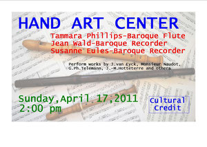 concert in the Hand Art Center, Stetson University, DeLand, Florida, April 17 2011 @ 2 pm