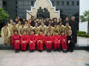 2012 年8月 太極拳表演大会に全員で参加