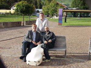 With Wolfgang Emanuel Schmid and Alessandro Appignani in Toblach