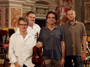 With Francesco D'Orazio, Giorgio Tabacco, Julian Schwenkner in Mondovì