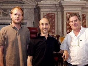 With Alessandro De Marchi, Juian Schwenkner in Mondovì