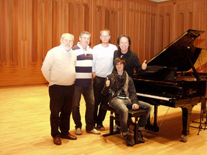 With Red Canzian, Alberto Tessarotto, Julian Schwenkner and Giovanni Bettin in Toblach