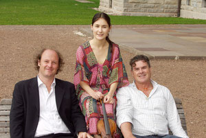 With Fanny Clamagirand, Oliver Kern in Toblach