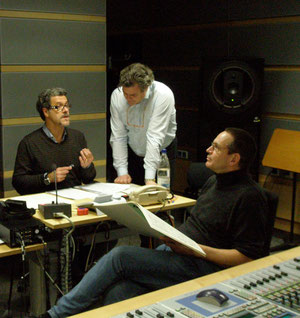 With Lucio Gallo, Ulf Schirmer at CD Production with Lucio Gallo in Munich