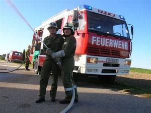Der neue TLFA-2000 bei einer Übung (Hintergrund)