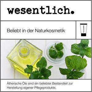 wesentlich. natürlich - Aromatherapie & Ätherische Öle, naturreine Öle und Duft- oder Parfümöle - Naturkosmetik