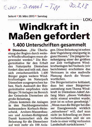 Artikel aus dem Eder-Diemel-Tipp vom 30.03.2013