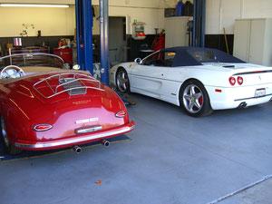 PORSCHE 356 AND FERRARI 355 SPYDER