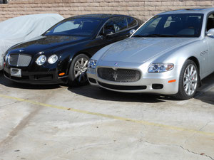 05 BENTLEY AND 08 MASERATI QP