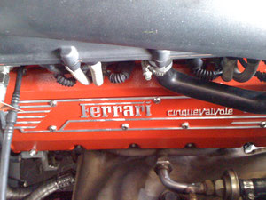 95 FERRARI 355 VALVE COVER AFTER STRIP AND REPAINT AT REVOLUTION.