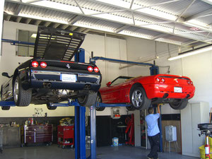 TWO 98 FERRARI 355 SPYDERS
