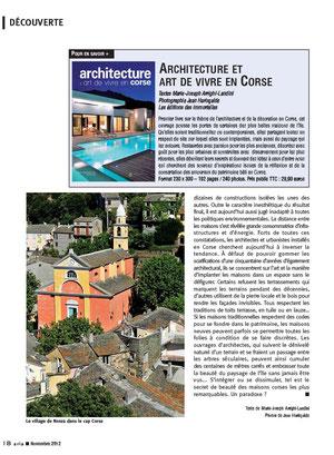ARIA, magazine de bord d'Air Corsica novembre