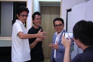下町ボブピース!細貝淳一実行会委員長、三信精機斉藤与志行部長、高橋和勧監督。
