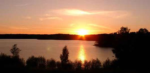 Sonnenuntergang am Stora Le