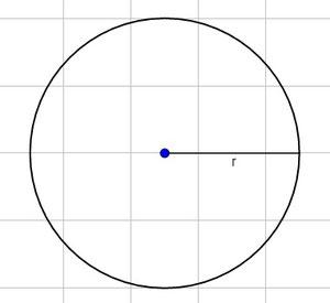 Kreis mit eingezeichnetem Radius