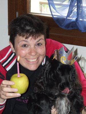 Il mio 3 compleanno, la mia cosa preferita, la mela :P