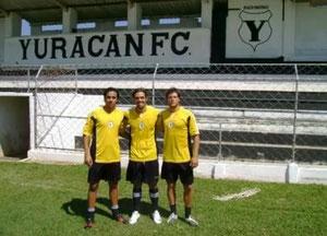 Con sus compañeros en Yuracan, Brasil