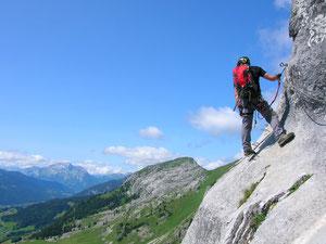 Nos moniteurs via ferrata dans les Alpes en juillet 2012