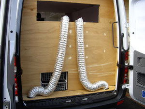 Vents feeding up to window