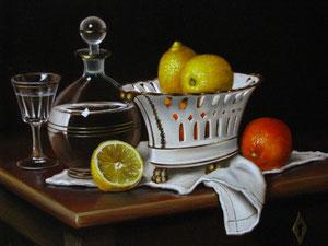 Porcelaine et citrons 5F