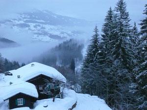 Blick vom Berghof Piz ins Tal