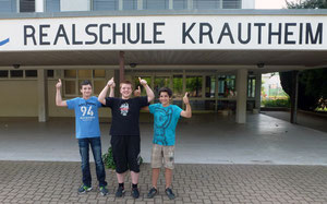 v.l. Luis Walz (7b); Marco Hambrecht (8a); Jakob Krieg (8a)