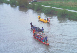 2004 erstes Rennen, Sauwetter