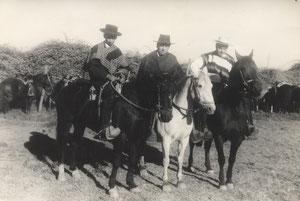 Huasos, Gaspar González Ubilla, Julio Hugo Parrao  y Juan Fariaz Perez