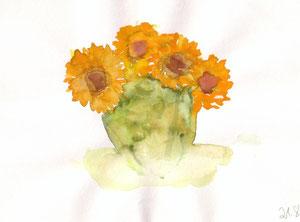 Sonnenblumen in Vase