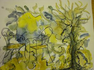 Zwei Gartenstühle