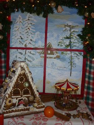 unser Weihnachtsfenster