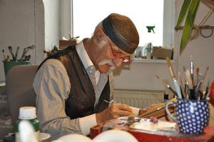 Ali Mitgusch in seinem Schwabinger Atelier