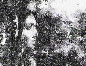 Lu auf Ölbild von Christoph Wetzel, 1975