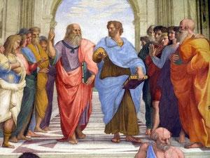 Platón y su maestro Sócrates