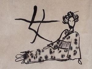 女@新宿大ガード横のひもの屋