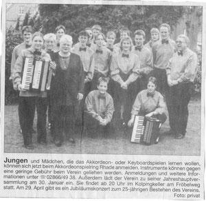 Ruhr Nachrichten, Januar 2000